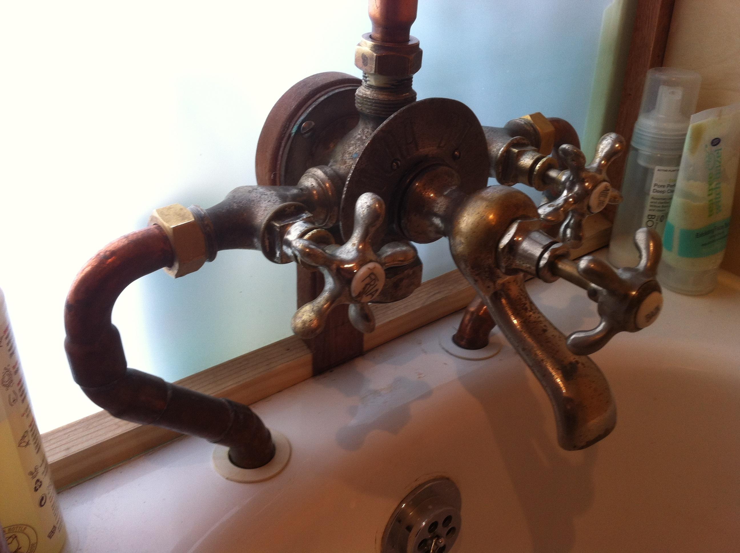 reclaimed european tap combination euro hybrid bath shower mixer