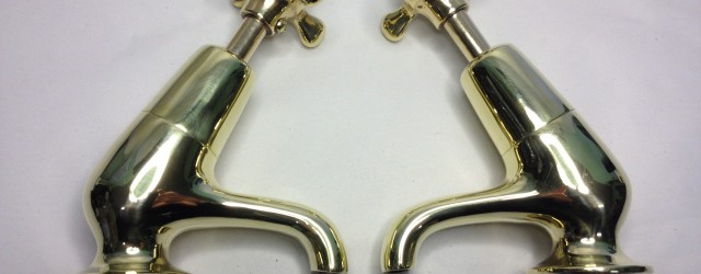 @@@@@@@@    FOR SALE    @@@@@@@@ When you consider the pretty lines and ergonomic shape of these curvaceous polished brass basin taps, it's hard to consider...