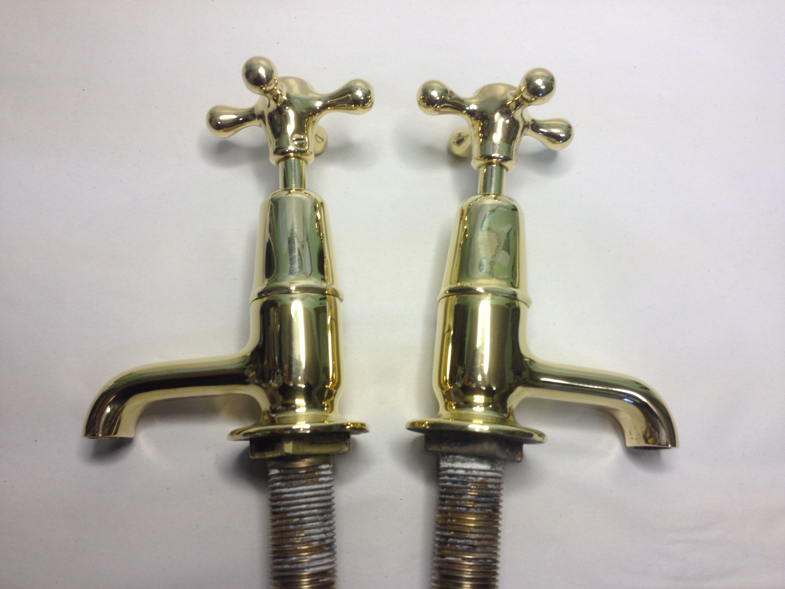 Reclaimed Brass Kitchen Taps