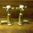 ****  FOR SALE  **** These MWB stamped taps are from the era of the Metropolitan Water Board. They have a smooth profile and design, with white ceramic indices...