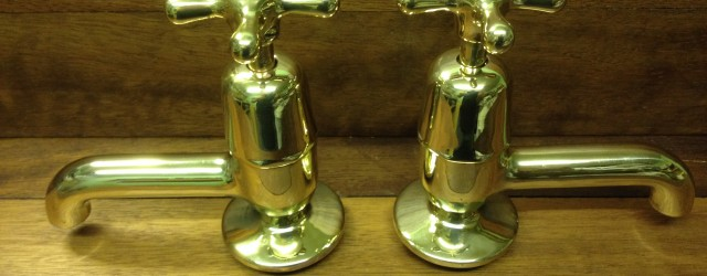 ****  FOR SALE  **** We were happy to have refurbished a standard pair of basin taps with stamped indices, but to then come across a very similar design...