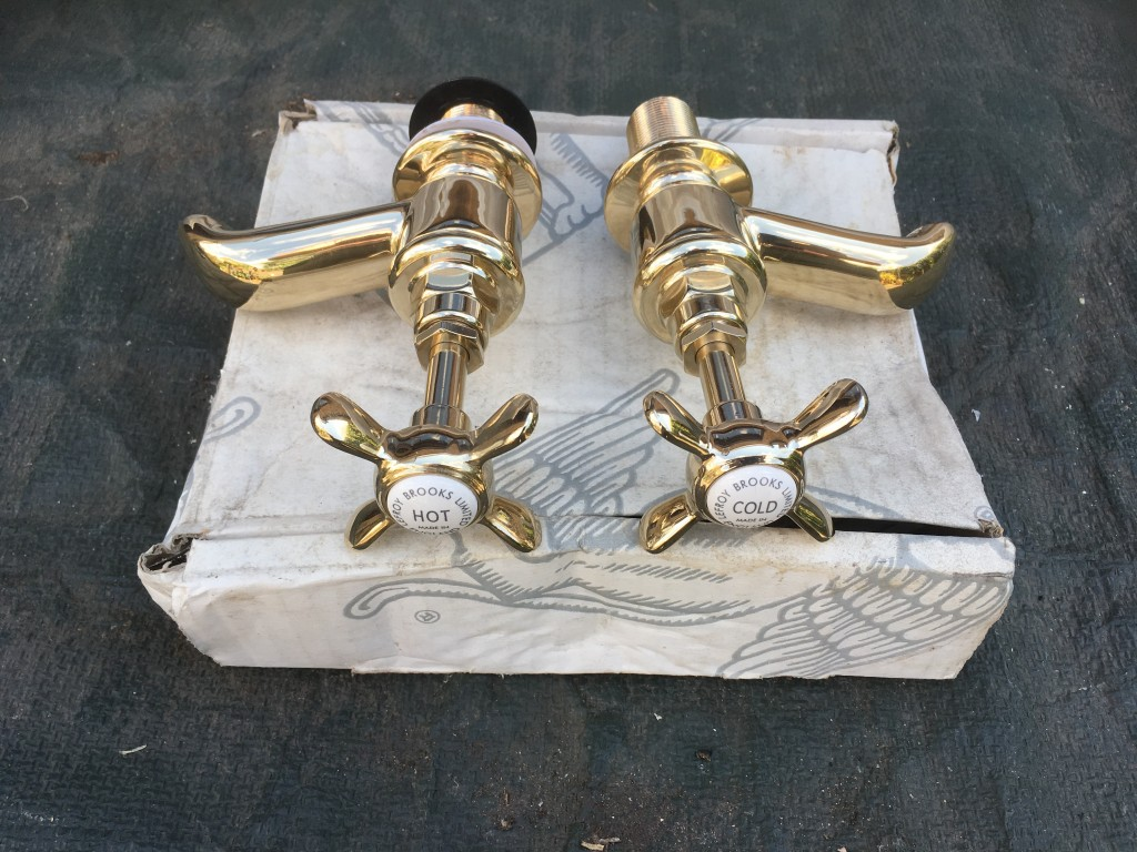 Lefroy Brooks LB1154 Antique Gold bath taps – FOR SALE