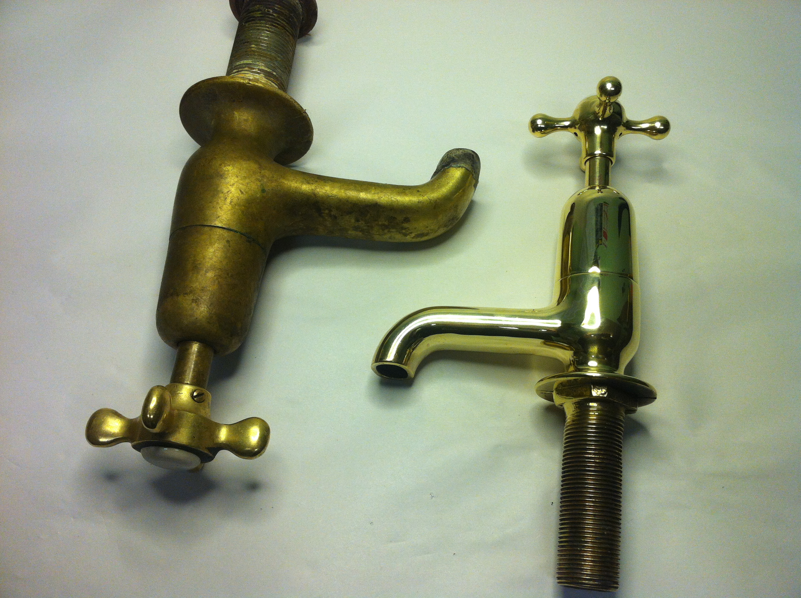 Polished Brass Tap Or Patina